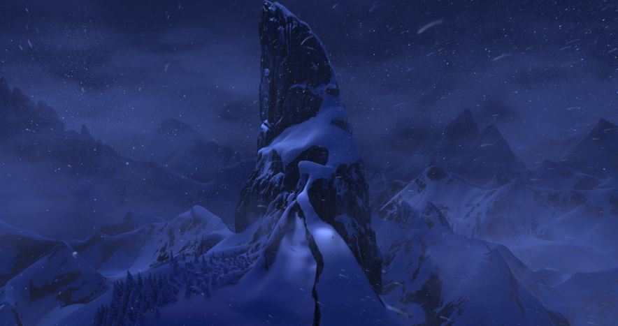 The snow glows white on the mountain tonight, not a footprint to be seen.