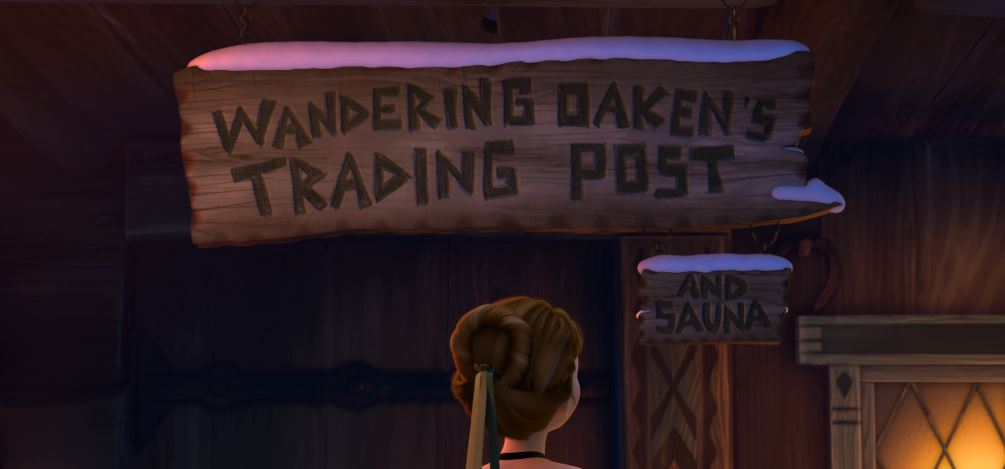 Wandering Oaken's Trading Post. Ooh! And sauna.